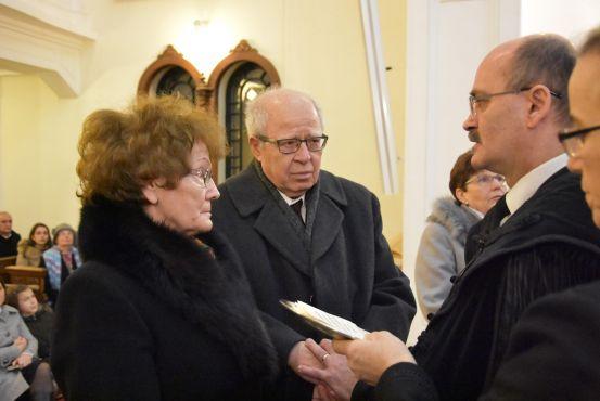 Jubiláló Házaspárok megáldása