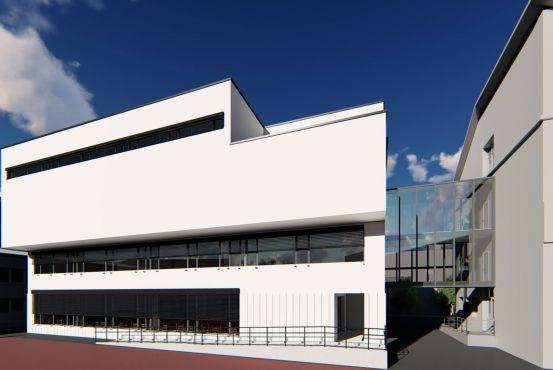 A Jókai Iskola új épületszárnyának látványterve