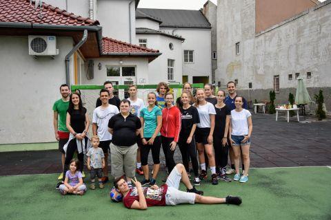 Ifjúsági sportnap a templom mellett